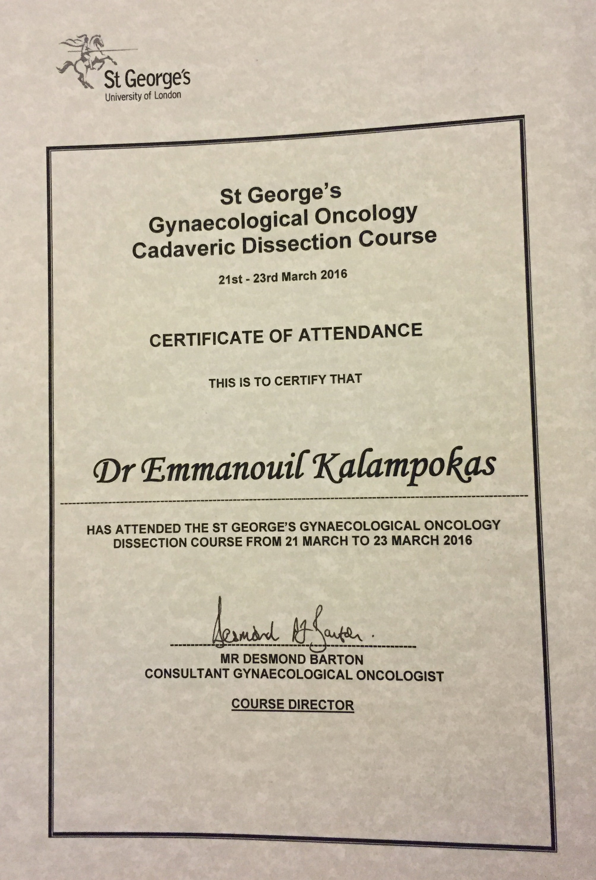 dissection course