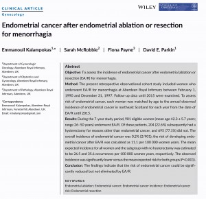 Endometrial cancer after endometrial ablation or resection for menorrahagia_001